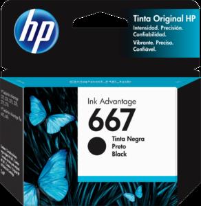 TINTA HP # 667 NEGRO